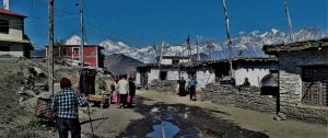 Village of holy site muktinath Nepal