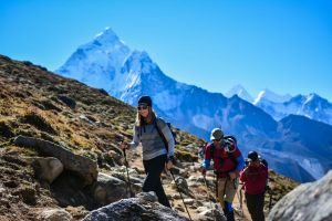 picture after thukla pass near lobuche village in your Everest Three High Passes Trek 20 Days