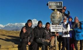 Nepalgram trekking team at poonhill