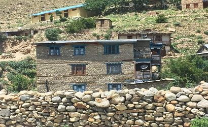 fragile house seen in dolpo trek, dolpo is one of the many remote treks in Nepal