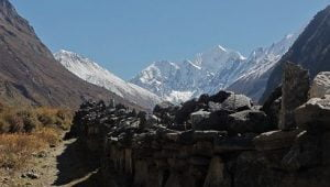 trail above mundhum best view in langtang valley trek itinerary