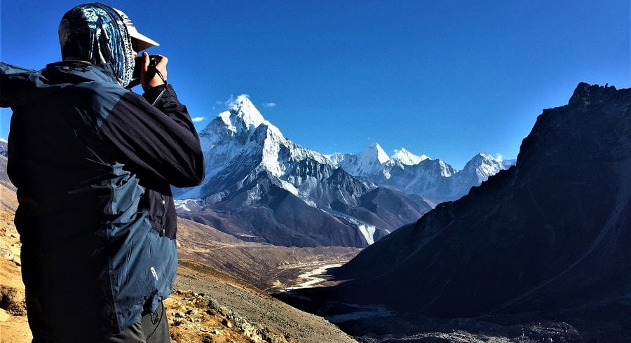 Photographing the beauty of Mt amadablam and the Pheriche valley