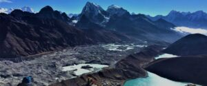 View of Gokyo lakes seen from the top of Gokyo ri on our Everest basecamp chola pass Gokyo ri trek