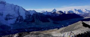 view from the kalapatthar top which is major attraction of everest basecamp trekking tour
