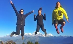 A jump that exposes trekking joy at poonhill during abc trekking trip