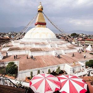 boudhanath stupa captured during lunch break on our kathmandu 1 day tour