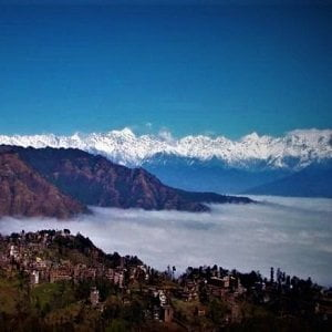 Infinite mountain range seen from Nagarkot in Changunarayan Nagarkot Day hiking Tour