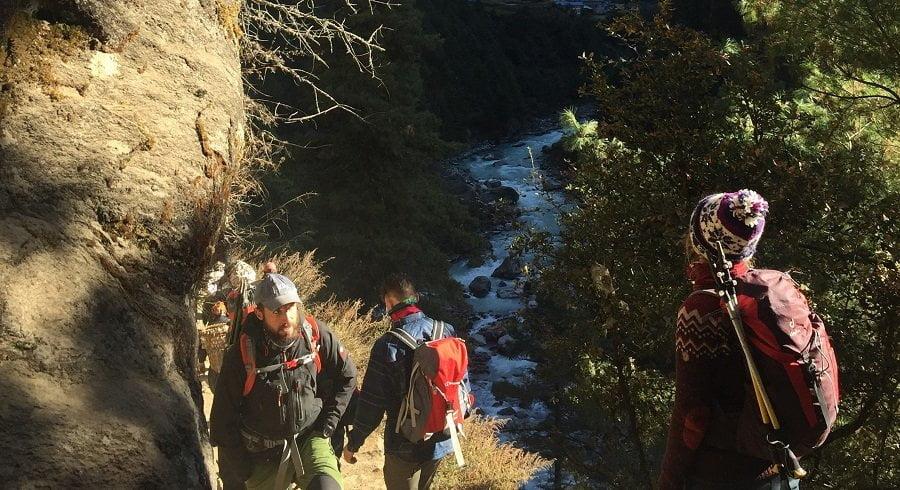 Trekkers wondering on their own interest during Gokyo ri trek