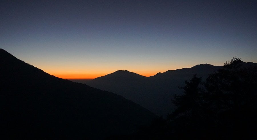 After sunset on the hills - even the hills are stunning