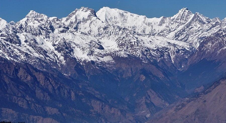 Mountains seen in the famous pilgrimage site - Gosaikunda lake trek