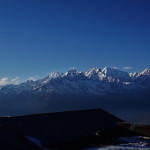 Beautiful Mountain range seen on Helambu trekking