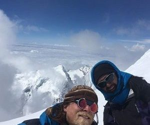 mark and arun at island peak in their Island Peak Climbing with EBC Gokyo trek