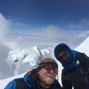 mark and arun at island peak in their Island Peak Climbing with EBC Gokyo trek