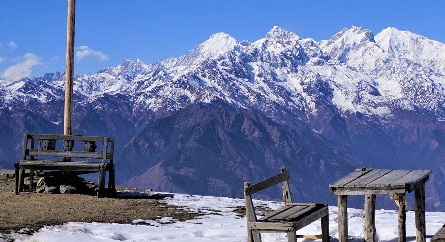 View from our tea break point in Nepal trekking trip