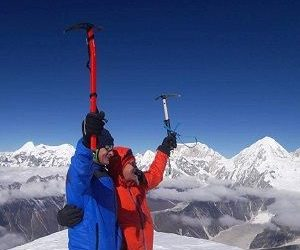 Atop of larkey peak - an adventure climbing in manaslu restricted region and region's famous larkey peak climbing