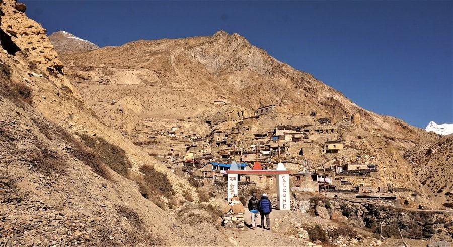 Village of Nar phu valley trek