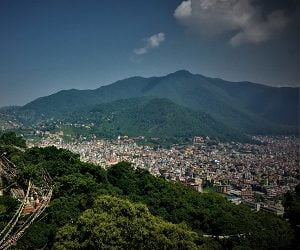 View of kathmandu valley from the rock climbing spot of Nagarjung Hike & Rock climbing height