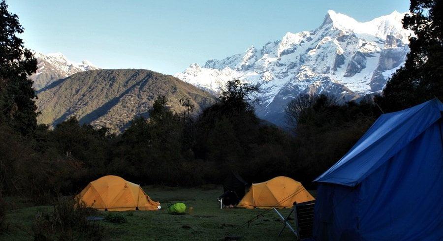 Our camping spot before Tasilapcha pass