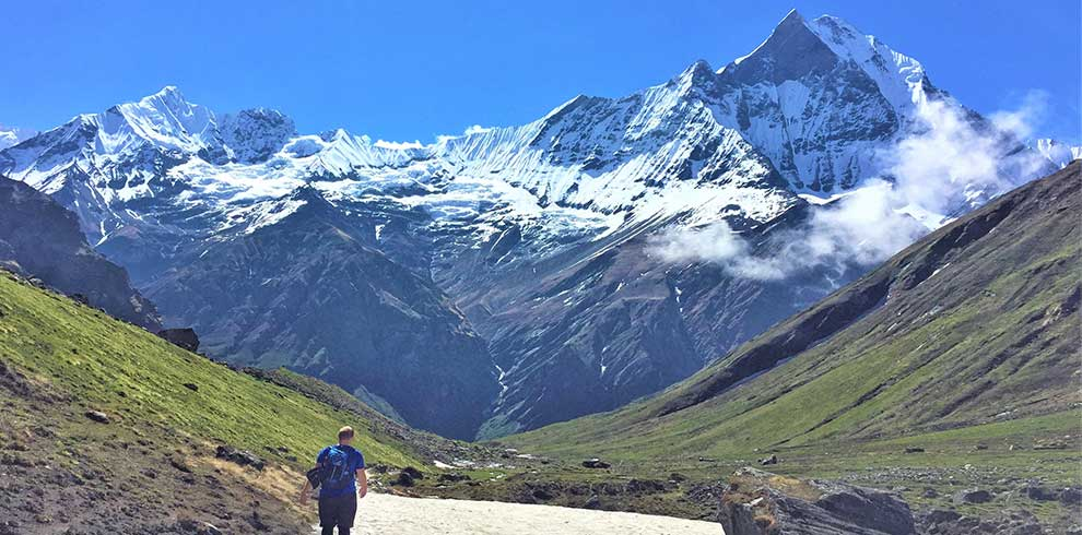 Mt fishtail on the way back from Annapurna base camp trek