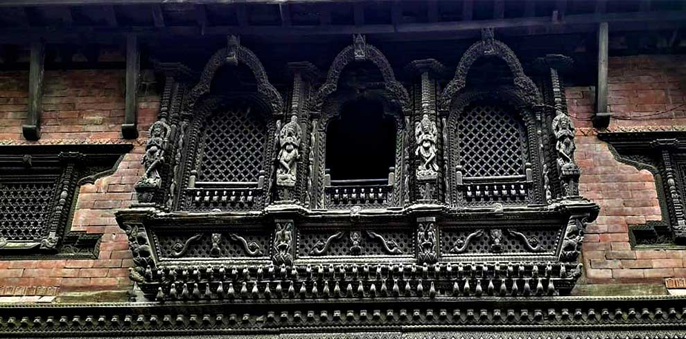 Wood carving of Bhaktapur Durbar Square