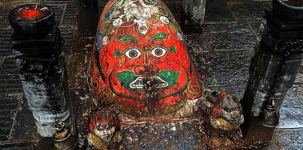 head of kaal bhairab captured on the 1 day Kathmandu Tour point of Basantapur durbar square