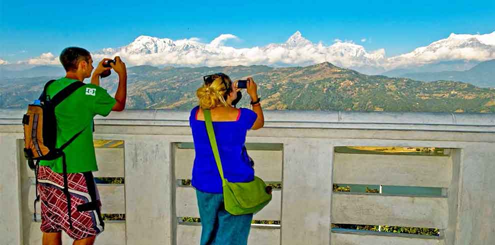 View of the Annapurna Himalaya range has been a best attraction of Kathmandu pokhara tour