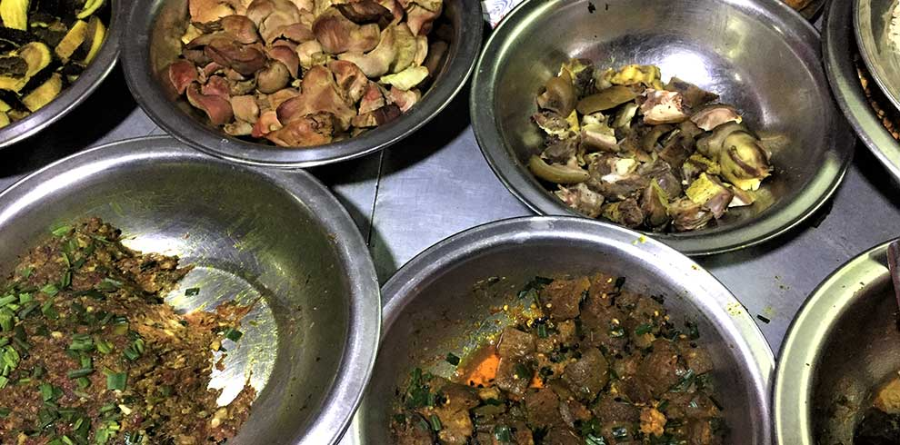 Traditional lunch item in a day tour to Kirtipur