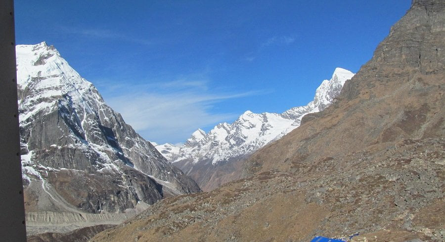 Seen from the pass - Langtang valley