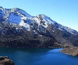 Gosaikunda lake in unfrozen state, this lake comes towards the end of the langtang gosainkunda trek