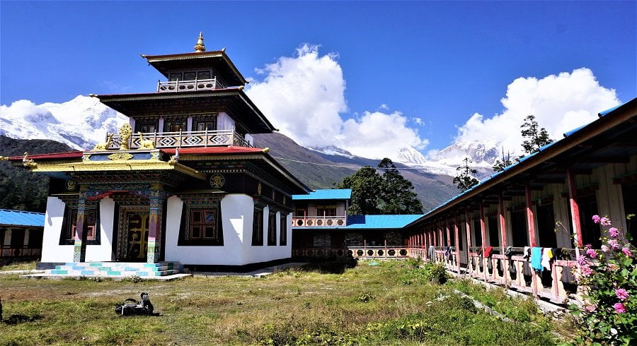 Local Monastery in the village we stayed in our Manaslu cultural circuit trek