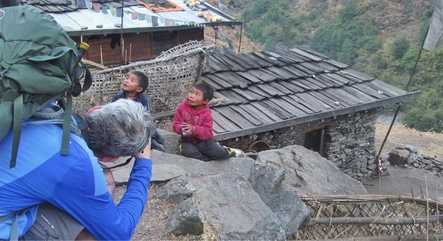 Kids we met along the trekking route