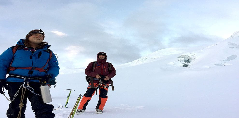 Mera peak climbing team for a pose
