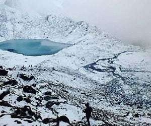 Jattapokhari seen during winter trekking to Numbur cheese circuit