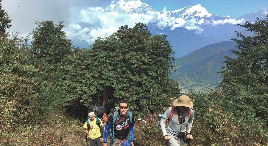 Trekkers and the Mountains