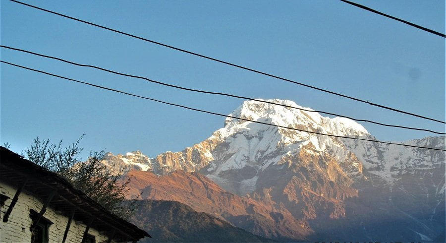 View of Annapurna in Panchase trek - captured form our home stay