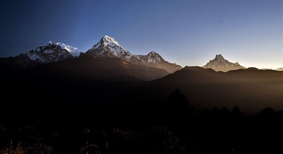 Annapurna Himalaya range seen from Poonhill in our Poon hill trek