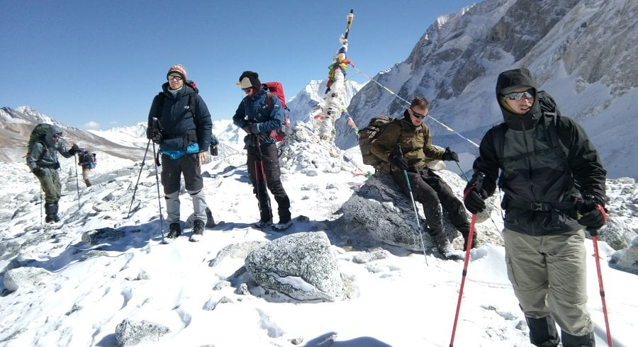 Atop of Manaslu larkey pass in december