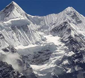 Mount kanchenjunga seen from Kanchenjunga base camp