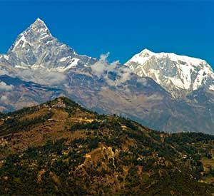 Beauty of Mt Fishtail seen from famous tourist destination of Nepal - Pokhara
