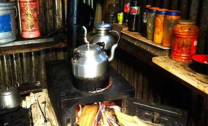 tea time in our limi valley trek