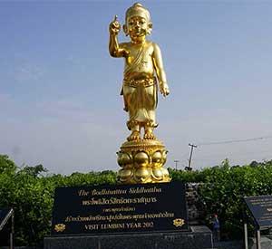 Baby buddha statue at Lumbini Nepal