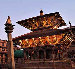 Temple of Patan captured during the evening