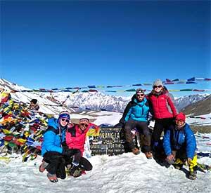 At the top of Thorong la pass