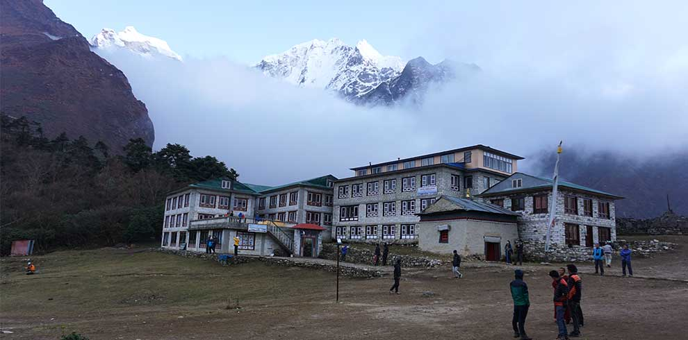 Mt thamsherku seen from tengboche on our ebc trek