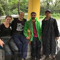 1st day of Ghorepani Ghandruk village trek in the rain