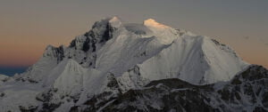 sunrise at the top of Mount Makalu