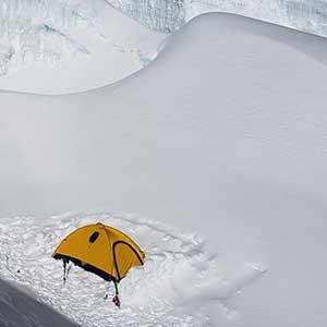 Our camp on Himlung peak climbing trip