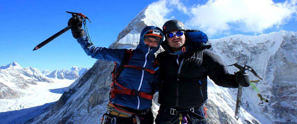 Climbers to the summit of Pharchamo Peak