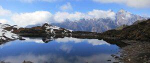 Fresh water lake seen during trekking of makalu basecamp