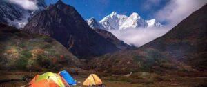 The camping route of Makalu basecamp trek